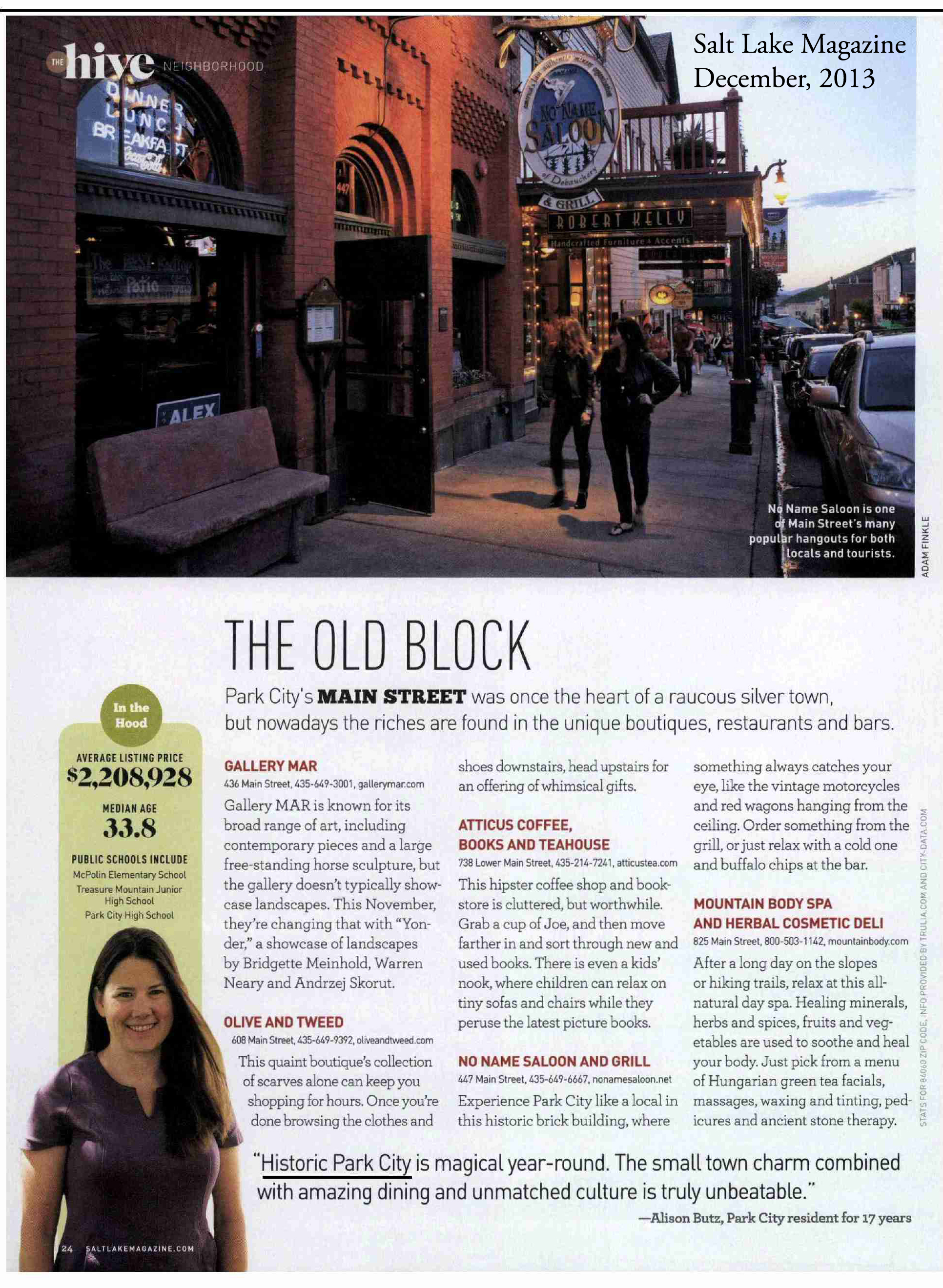 Salt Lake Magazine - Park City Feature