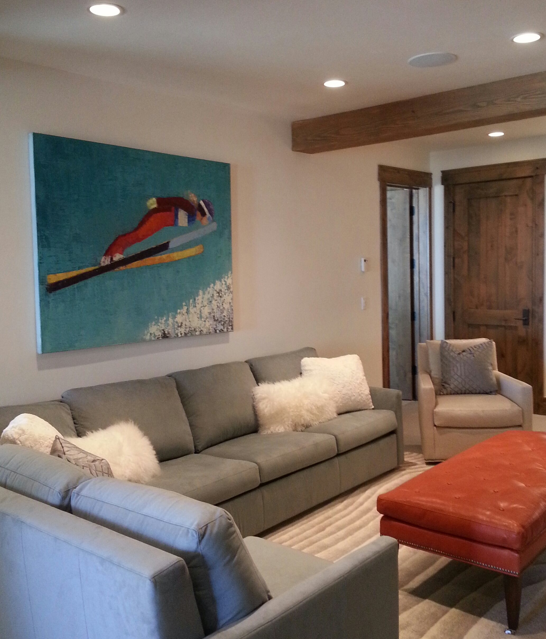 """""""Flight"""" by Rebecca Kinkead, was selected to set the tone for this Deer Valley home's room"""
