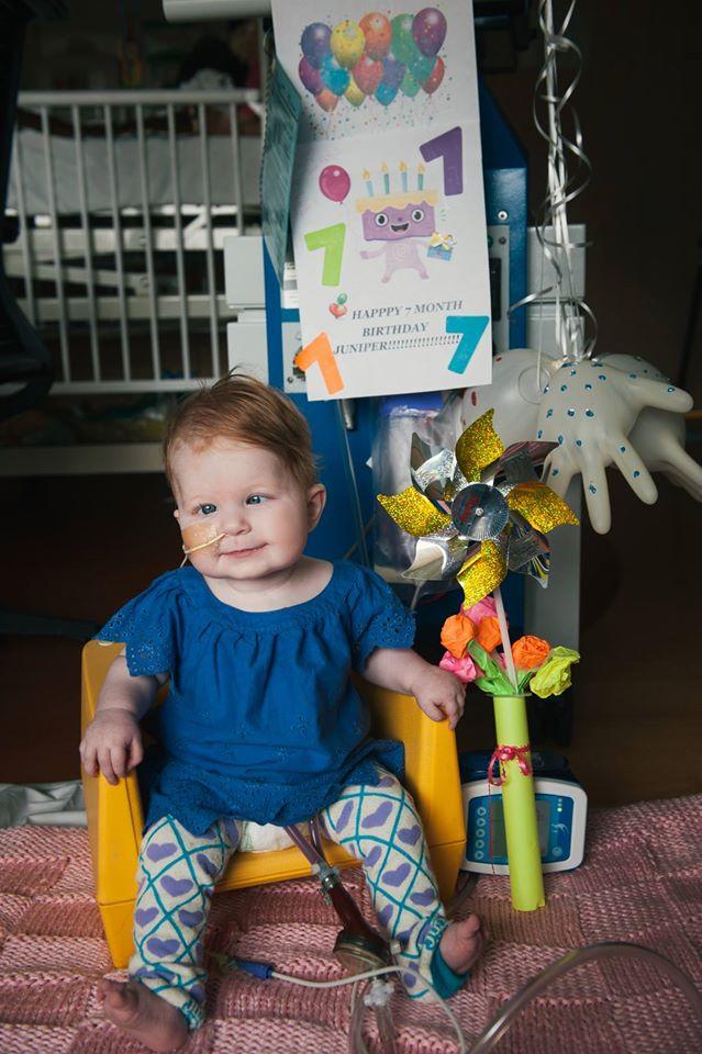 Juniper at Seven Months, with her Berlin Heart machine