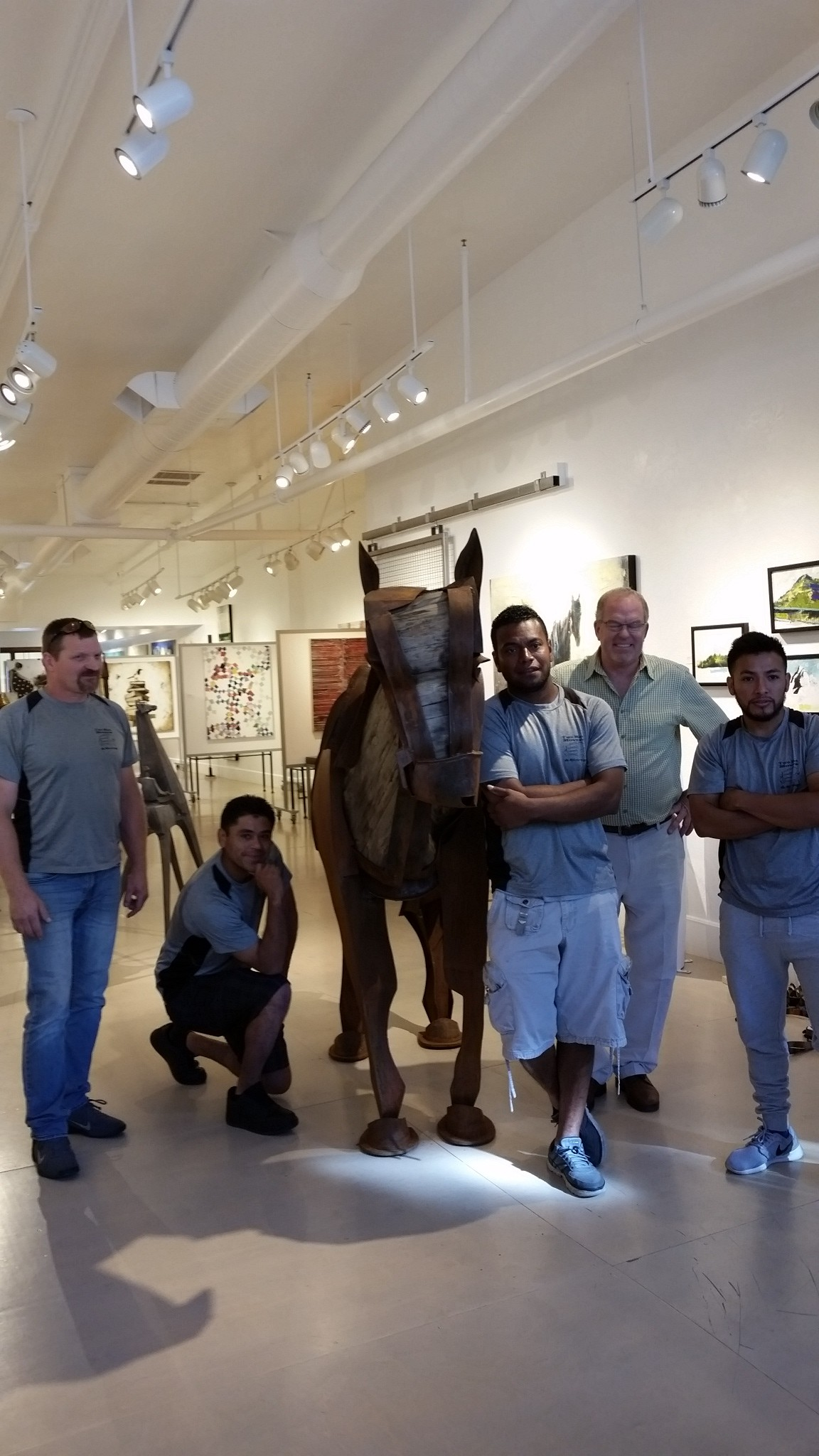 Jamie Burnes Sculpture at Gallery MAR, Moving Day