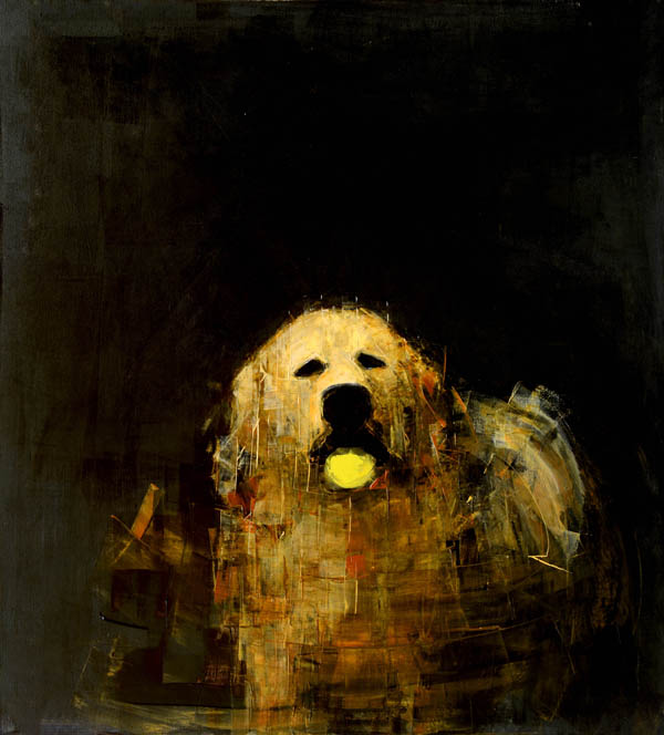Rebecca Kinkead - Golden Dog with Ball