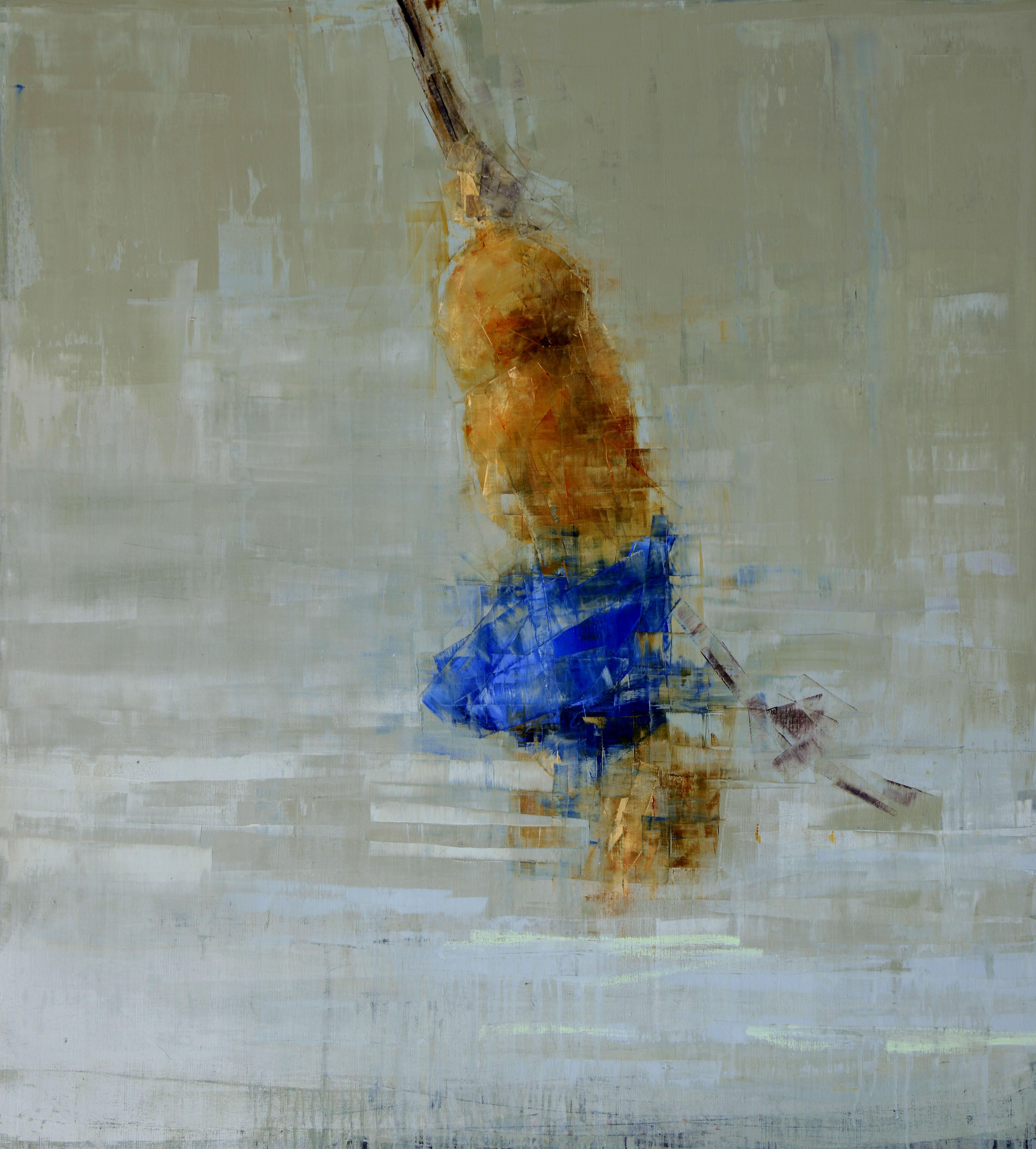 """Rebecca Kinkead, """"Rope Swing (Blue on Blue)"""""""