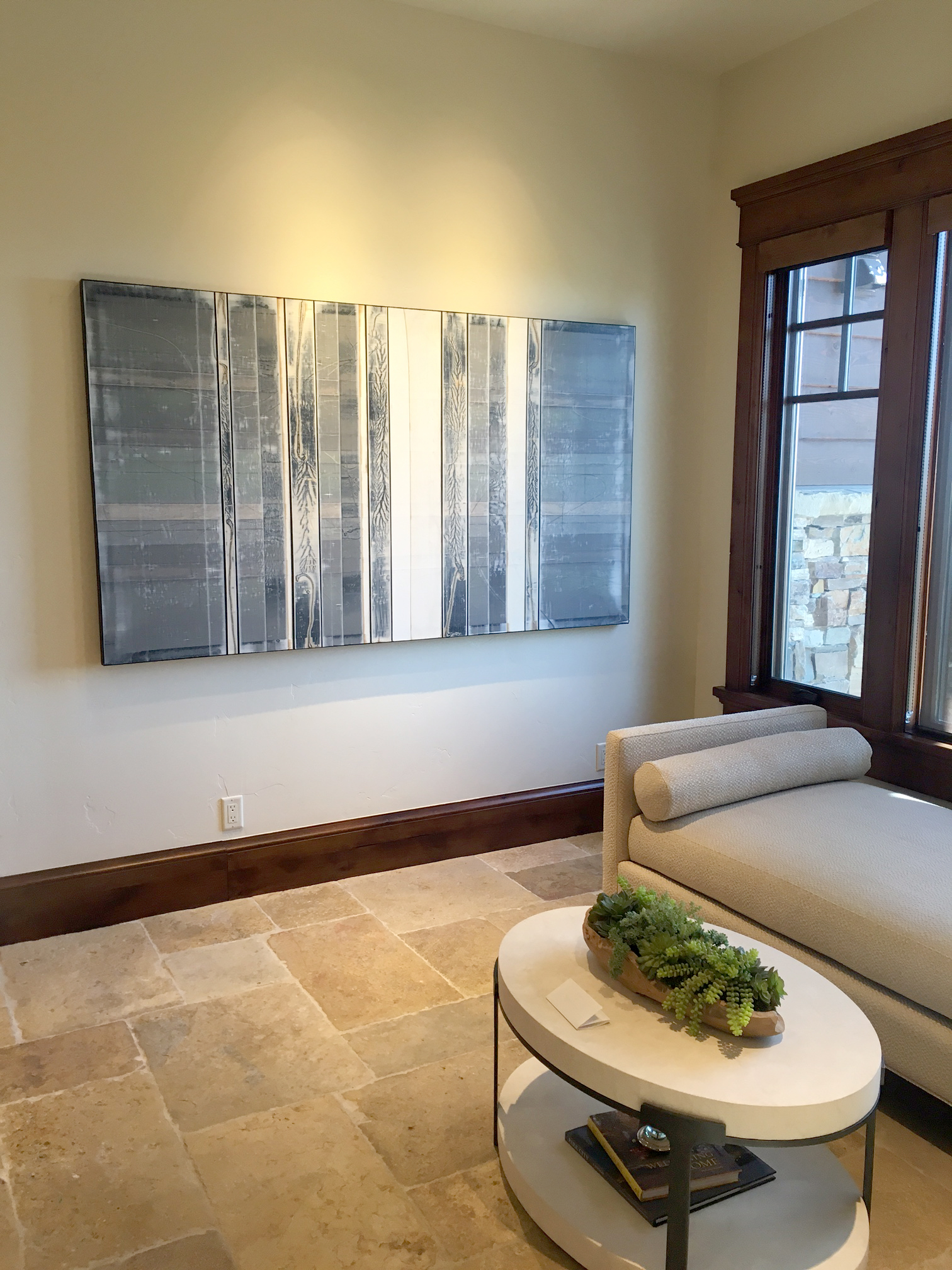 "Michael Kessler, ""Aspenslate (1)"", 48' x 84"", Acrylic on Canvas, 2016 -- Installation view"