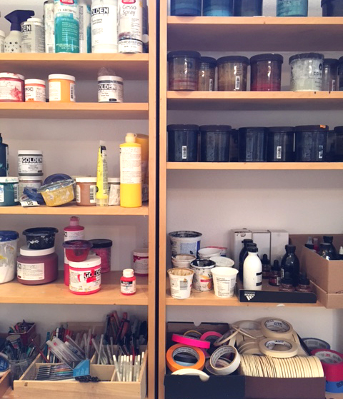 Paints, tapes, and tools