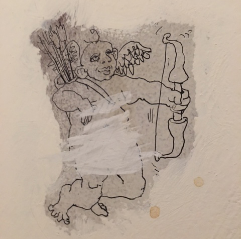 Bathroom wall doodles