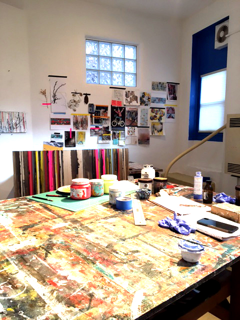 Nina Tichava's studio