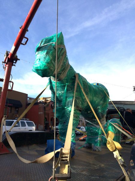 Catch the Arrival of Gwenivere -- Jamie Burnes' New Steel and Wood Horse