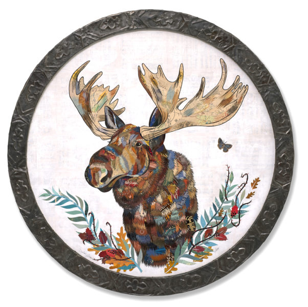 """Willow King"" mixed media artwork by Dolan Geiman, 54"" in diameter"