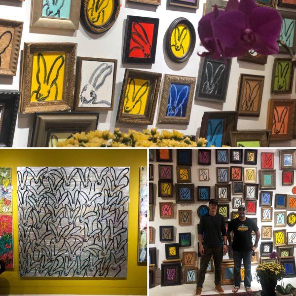 Visiting Hunt Slonem's studio in Brooklyn, N.Y.