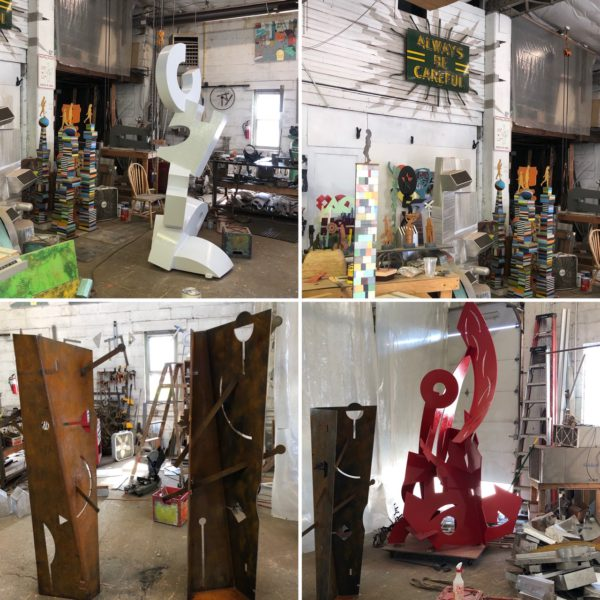 Visiting the studio of Richard Taylor, W.I.
