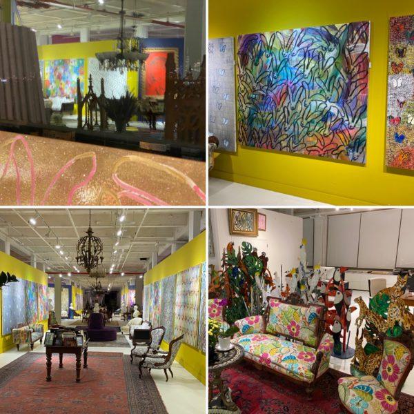 Hunt Slonem's Studio