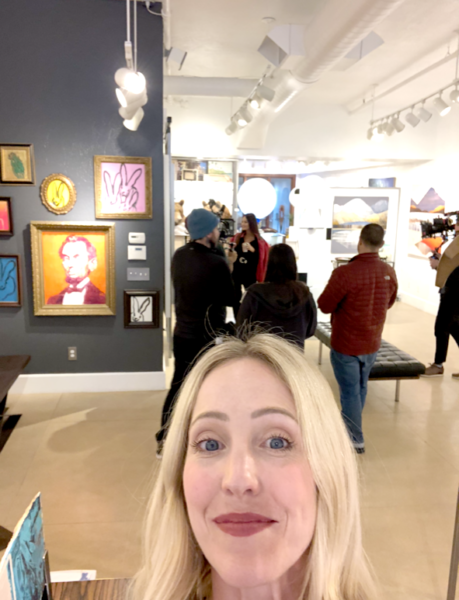 During filming of the Real Housewives of Salt Lake City, at Gallery MAR