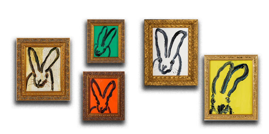 Hunt Slonem Bunny Wall