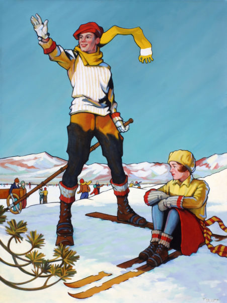 """Snow Globe,"" 40"" x 30"", Oil painting"