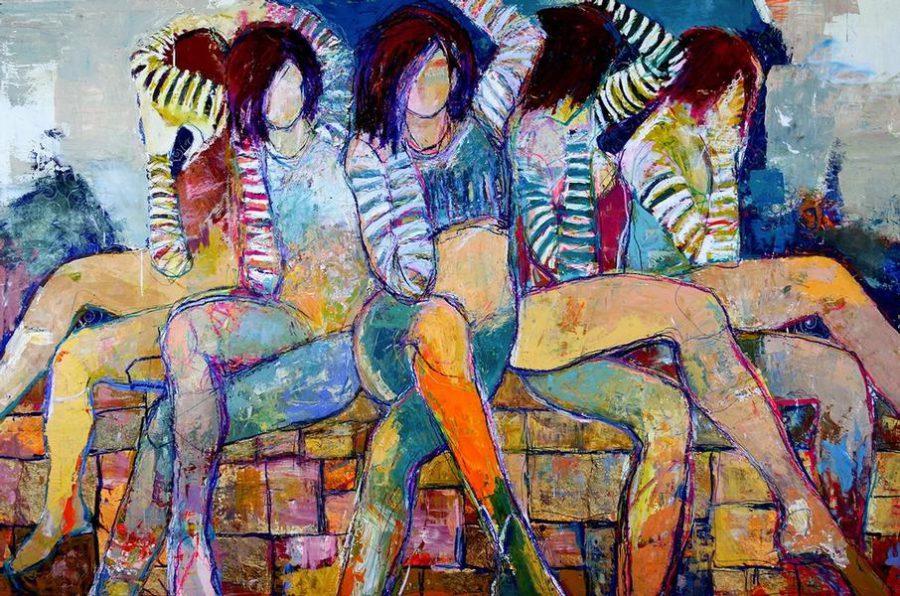 Jylian Gustlin Sirens painting
